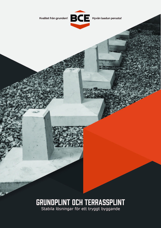 Grundplint och terassplint broschyr | Plintgrund